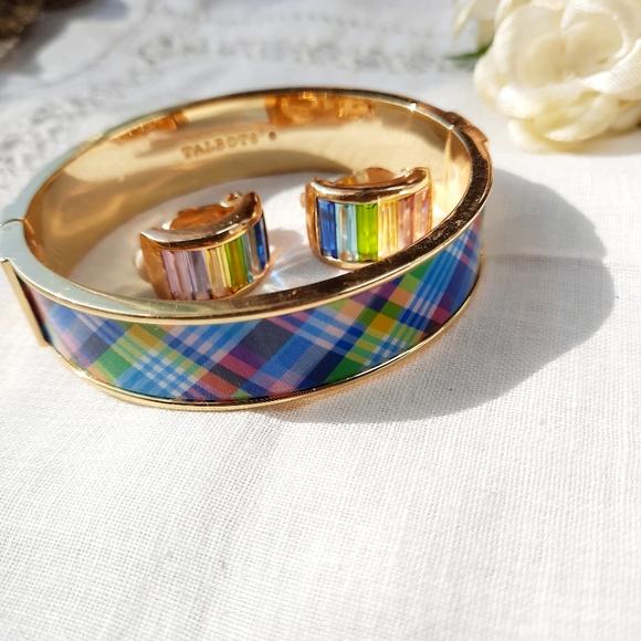 Talbots Colorful Bangle Bracelet + Clip Ons